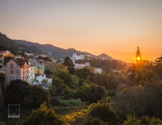 Sunset over Sintra